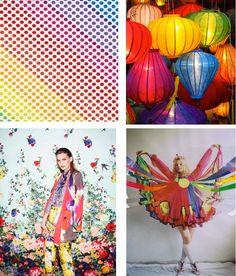relatório de tendências de cor #DesignOptions em #WeConnectFashion, SS17 da Mulher, sobre os detalhes da placa de humor do arco-íris