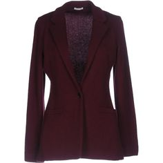 Malo Blazer ($1,350) ❤ liked on Polyvore featuring outerwear, jackets, blazers, maroon, purple jacket, malo, purple blazers, purple blazer jacket and collar jacket