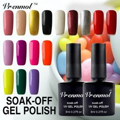 Vrenmol Elegant Nail Gel Polish Long Lasting Soak Off  Shining 29 Colors Varnish Need Base Top Coat Make Up Nail Gel #Affiliate