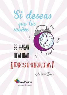 ES HORA DE DESPERTAR DORMILONES... (((Sesiones y Cursos Online www.ciaramolina.com #psicologia #emociones #salud)))