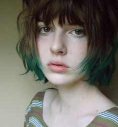 Green & brown hair