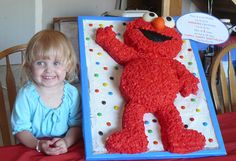 Elmo cake with Raegan | Flickr - Photo Sharing!