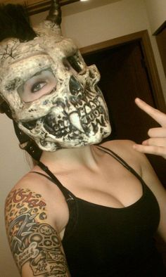 Demon 3D skull motorcycle helmet with mohawk