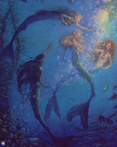 Scott Gustafson, The Mermaid's Lagoon (illustration from Peter Pan). ❣Julianne McPeters❣ no pin limits