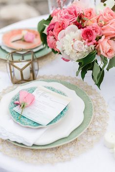 Anthropologie place setting | Brittany and Devin Photo Co. | see more on: http://burnettsboards.com/2015/03/north-michigan-wedding-water/
