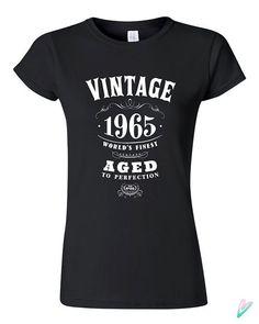 50th Birthday Gift Vintage 1965 T-shirt Tshirt Tee by TeenieTees