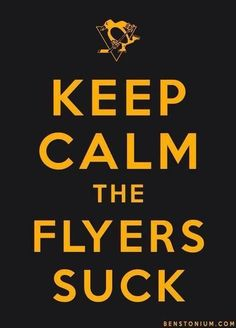 Haha. Love it. Courtesy Pittsburgh Penguins can get 1,000,000 fans before Philadelphia Flyers Facebook page. :)