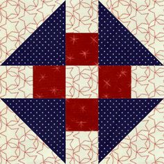 Churn Dash, found in the perpetual calendar, 365 Quilt Blocks a Year by Nancy Martin, is drafted from a 5 x 5 grid.Here it is presented in a simple straight set with borders…blocks set square side-…