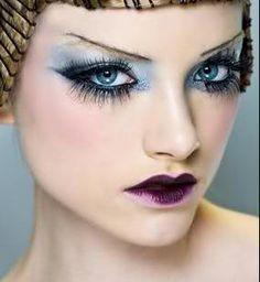 Pat McGrath for Dior, make-up, eyes, blue, lips, purple