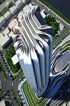 Visit the most exciting and outstanding architecture design buildings in the world designed by Zaha Hadid at themonsyeursjourn. Chinese Architecture, Modern Architecture House, Futuristic Architecture, Amazing Architecture, Architecture Design, Modern Houses, Zaha Hadid Architektur, Arquitectos Zaha Hadid, Zaha Hadid Design