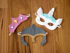 Fairytale Character Masks - Princess Tiara, Unicorn and Knight Helmet Costume - Sewing Patterns at Makerist