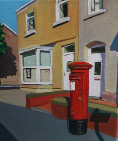 Former corner shop and post office on the corner of Malborough Road and Bernard Street, Brynmill by contemporary artist Emma Cownie. Contemporary Art Daily, Contemporary Artists, Office Art, Post Office, Time Painting, Painting Prints, Landscape Paintings, Landscapes, Art Paintings