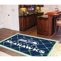 Seattle Seahawks NFL Floor Rug (5x8')