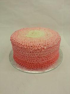 Ruffles and frills make for birthday thrills! Our buttercream ruffle cake. Buttercream Ruffle Cake, No Frills, Vanilla Cake, Cakes, Birthday, Desserts, How To Make, Food, Vanilla Sponge Cake