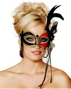 Una máscara veneciana