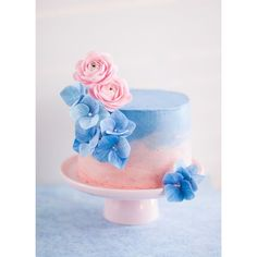 A Cake Inspired by the Color of the Year and a Hydrangea Tutorial ❤ liked on Polyvore featuring home, kitchen & dining and rosette cutter