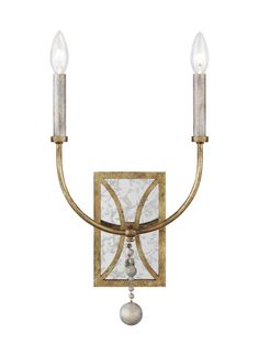 Feiss - - Marielle - Two Light Wall Sconce - Antique Gild Lighting Showroom, Wall Sconce Lighting, Cool Lighting, Chandelier Lighting, Candle Sconces, Wall Sconces, Chandeliers, Entrance Ways, Wall Lights
