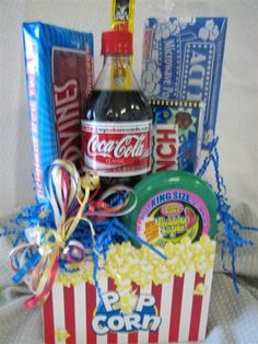 Birthday party idea- the birthday girl/boy asks their friends that are coming their favorite soda and candy then get everything set up in the box and have a movie night/party.takes the place as party favors :) Teen Birthday, Birthday Gifts, Birthday Parties, Birthday Ideas, Birthday Recipes, Birthday Nails, 16th Birthday, Birthday Bash, Movie Night Party