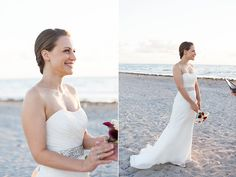 Eloping in Miami. Sunrise beach wedding at Crandon Park in Key Biscayne, Florida. Notary, logistical, floral, photography by Small Miami Weddings. www.smallmiamiweddings.com