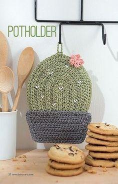 Crochet Cactus Potholder Pattern Kitchen Crochet Patterns