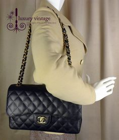 #Chanel Jumbo flap bag Black Caviar With Gold Hardware Like New Condition With dust bag + authenticity card .  Bangsar showroom + 6 010 220 3384 + 6 03 2095 6266 Bangsar Village showroom +6 012 955 3384 + 6 03 2282 0066 Ampang showroom + 6 03 4251 0013 Email- luxuryvintagekl@gmail.com