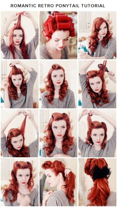 Romantic Retro Ponytail Tutorial #ghdSecrets
