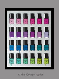 Pantone Nail Polish.  Could be cute on the wall of the diva den.