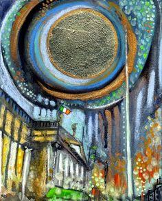 "Saatchi+Online+Artist+Mo+Kelly;+Painting,+""'Lá+Geal+Naomh+Pádraig'+A+Bright+St+Patricks+Day'""+#art"