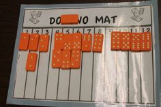 Math sort -- count the dots on the domino and put it in the proper column! Kindergarten Centers, Preschool Math, Math Classroom, Math Centers, Classroom Ideas, Teaching Numbers, Math Numbers, Teaching Math, Teaching Ideas