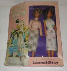 """Here we have a Vintage Laverne & Shirley Doll Dolls. They were made by Mego. They are approx 11"""" tall. They are in good condition and come in the original box. The dolls are in great condition. The bo"""