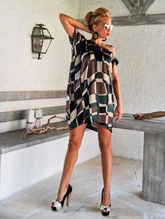 Satin Loose Dress Tunic   Summer Loose Dress   Asymmetric Plus Size Dress    Oversize Loose Dress    25001 089ec7064a0