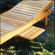 Reclining lounge chair – Canadian Home Workshop with excellent instructions