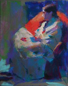 "Daily Paintworks - ""Model from my Dakota Workshop"" - Original Fine Art for Sale - © Margaret Dyer"