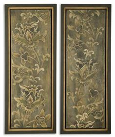 2 Framed Florals by Gordon Companies, Inc. $711.00. Picture may wrongfully represent. Please read title and description thoroughly.. Please refer to SKU# ATR26168859 when you inquire.. Brand Name: Gordon Companies, Inc Mfg#: 30721298. This product may be prohibited inbound shipment to your destination.. Shipping Weight: 30.00 lbs. 2 Framed Florals/old world vine themed/oil reproduction/hand-painted finish/Black satin frames with bronze inner walls/40''H x 16''W x 2''D/ma...