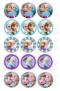 Bottle Cap Images Frozen Princesses Frozen by YourBabyDays Disney Princess Babies, Frozen Princess, Bottle Cap Projects, Bottle Cap Crafts, Frozen Birthday Theme, Frozen Party, Bottle Cap Art, Bottle Cap Images, Frozen Cupcake Toppers