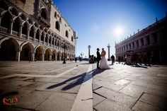 Wedding in Venice / A walk in a sunny in San Marco Square