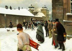Erik Henningsen (1855-1930): The Royal Guard passing by