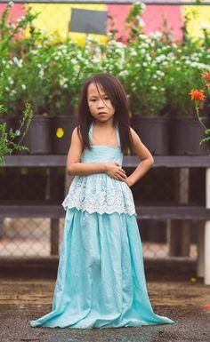 4c88d9c29f2 Evelyn Maxi Dress in Baby Blue. Flower Girl Dresses BohoGirls ...