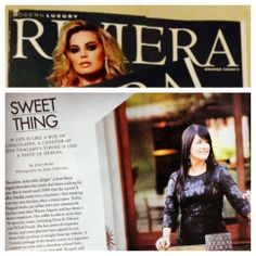 Honored to be featured in Riviera Magazine this month! www.Btoffee.com