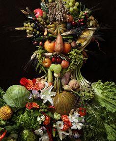 The Reel Foto: Arcimboldo's Portraits of Food by Klaus Enrique Gerdes
