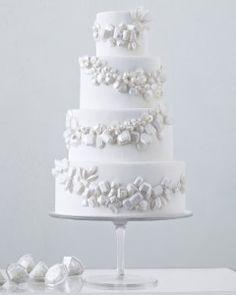 White Wedding Cakes  Martha Stewart Weddings