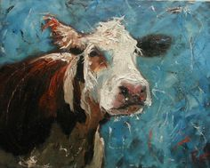 16x20 Print of oil painting Cow38 by Roz by RozArt on Etsy, $45.00