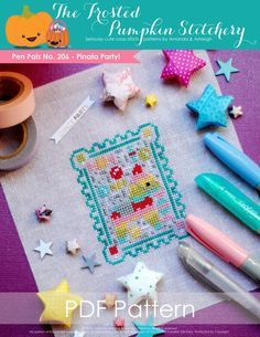The Frosted Pumpkin Stitchey - Pen Pals No. 206 - Pinata Party!