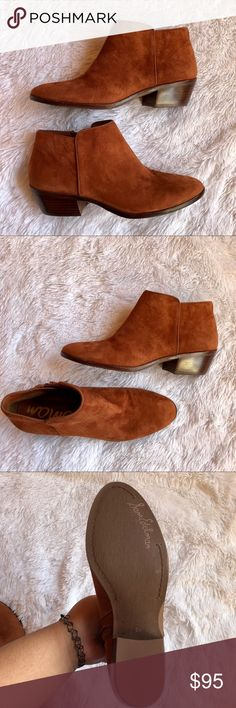 Cinnamon Suede Petty Ankle Bootie Super cute! Size 8.5. Complete your outfit with this cute bootie! Send me offers 💕 Sam Edelman Shoes Ankle Boots & Booties