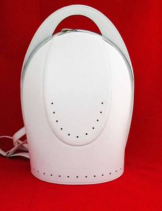 Luxury white leather backpack / woman leather backpack / white