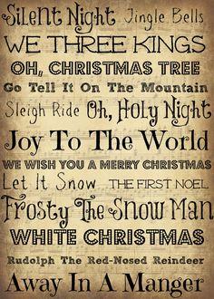 Christmas Carols!!!! :) I love them!!!!!