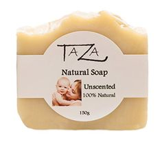 Premium Taza Unscented Natural Soap Pack of 3 Each 53 oz 150 g  100 Natural  Unscented  For Radiant and Glowing Skin  Contains Coconut Olive Palm Oils Mango Seed Butter Kaolin Clay >>> Be sure to check out this awesome product.