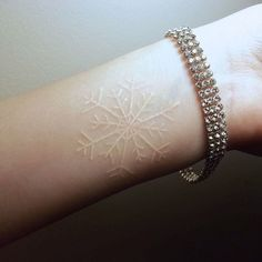 Courtesy of Inked Girls whiteink snowflake geometric