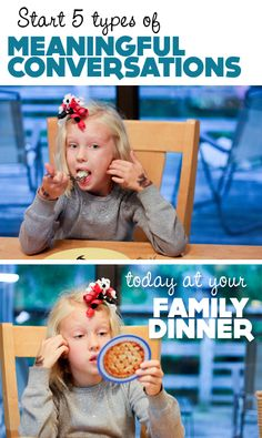 "{Family Dinner} Post shares questions  ""starters"" to begin 5 types of meaningful conversations with your kids..."