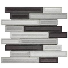 Shop Elida Ceramica Artistry Linear Mosaic Glass Wall Tile Common X Actual
